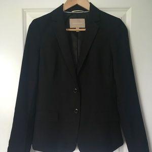 Classic Black Wool Blazer